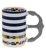 Disney Parks Mickey Nautical Anchor Striped Mug - $39.44