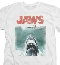 Jaws classic original movie poster retro 70s vintage graphic t-shirt UNI726 image 2