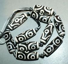 Strand Agate Dzi Stone Amulet Beads Nepal  - $27.00