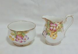 Royal Albert England Clematis Sugar and Creamer Set - $15.84