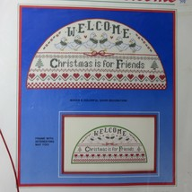 Vintage Dimensions Christmas Is For Friends Welcome Counted Cross Stitch 8333 - $18.52