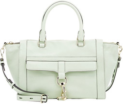 Rebecca Minkoff Large Aloe Green Leather Bowery Satchel DEFECT! NWT - $113.36