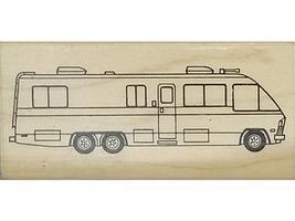 Camper Stamper Motorhome Rubber Stamp #F102