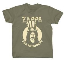 Frank Zappa-For President-XL Military Green T-shirt - $22.24