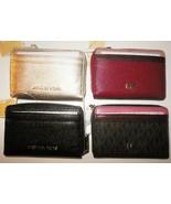 New Michael Kors Money Pieces Zip Around Card Wallet Leather Logo Multi ... - $49.99