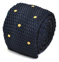tricoté bleu marine avec doré cravate pointillée pour hommes par - $24.38
