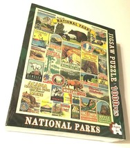 DCBA HGFE Visit The National Parks 1000 Jigsaw Puzzle New - $19.79