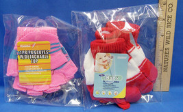 NEW Set 3 Pairs Childrens Baby Winter Gloves Pink & Red Open Finger Mittens - $5.45