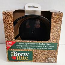 Brew Rite 8 -12 Cup Coffee Filter Reusable Golden-Mesh Permanent Basket ... - $12.86