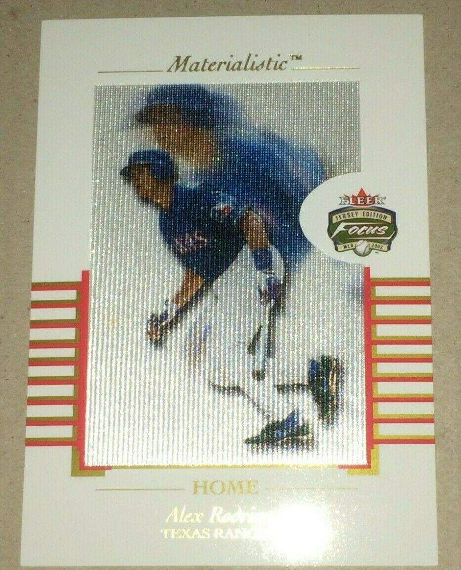 Primary image for 2002 FLEER FOCUS MATERIALISTIC JUMBO ALEX RODRIGUEZ HOME #2 OF 15  20/50