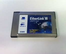3com 3C589D Etherlink Iii Lan Pc Card For 10BASE-T And Coaxial Cable Pcmcia - $10.00