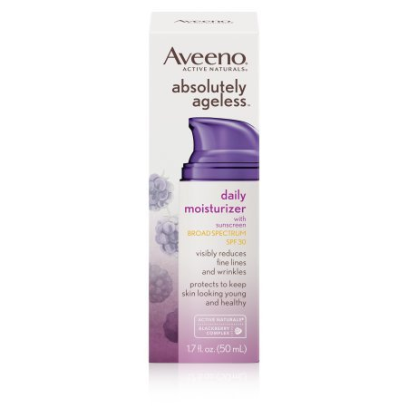 Aveeno Absolutely Ageless Daily Facial Moisturizer SPF 30, 1.7 oz.