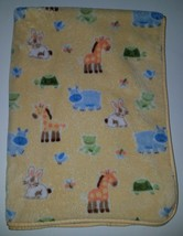 Circo Yellow Animals Baby Blanket Fleece Lovey Hippo Giraffe Frog Rabbit... - $283,93 MXN
