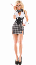 Sexy Party King Detention Hottie Teacher Grey Plaid Dress Costume PK414 - £36.44 GBP+