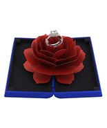 Naimo Creative Rose Engagement Ring Box Coin Jewelry Gift Box - $16.07