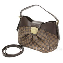 LOUIS VUITTON Sistina PM Damier Ebene Shoulder Bag 2Way N41542 Authentic... - $1,016.50