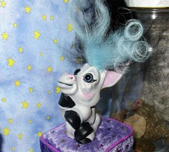 "DONKEY TROLL 3"" ooak doll Restore 2-tone new hair/paint black blue DAM f... - $45.54"