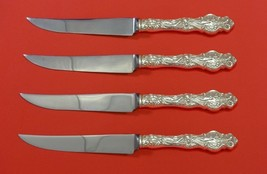 "Irian by Wallace Sterling Silver Steak Knife Set 4pc HHWS  Custom Made 8 1/2"" - $349.70"