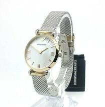 Emporio Armani Ladies Gold & Silver Mesh Watch AR2068 - $108.59