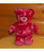 "Build-A-Bear Deep & Light Pink Cherry Swirl Plush BAB Signature Paw 15"" ... - $6.79"
