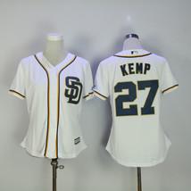 Women's San Diego Padres #27 KEMP Jersey Baseball MLB Jerseys White - $44.99