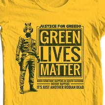 Greedo retro Star Wars T-Shirt Green Lives Matter free shipping 100% cotton image 1