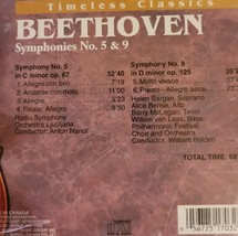 Beethoven Timeless Classics Symphonies 5 & 9 Cd image 2