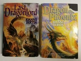Lot of 2 JOANNE BERTIN Fantasy HC Books: Dragon and Phoenix, Last Dragon... - $4.99
