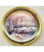 Thomas Kinkade Victorian Christmas II 3rd Issue Cherished Memories Plate... - $23.38