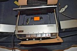Sony Cassette-Corder TC-124 Tape Recorder- W/ Many Accessories & Case -T... - $27.71