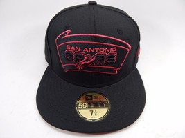 San Antonio Spurs New Era Size 7 1/8 Fitted 59Fifty Official NBA Cap Hat Black