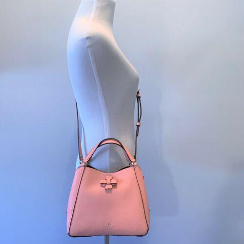 Kate Spade Talia Small Triple Compartment Leather Crossbody ~ Peachy Rose Bag image 6