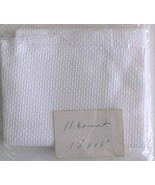 "Cross Stitch Fabric Aida 11 Count White Color Cotton 12"" x !8"" Unbranded... - $5.93"