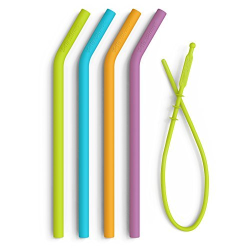 Big Reusable Silicone Straws for Tumblers - Best BPA Free No-Rubber Reuseable Sm