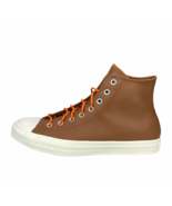 Converse Chuck Taylor All-Star Hi Brown Leather Sneaker Orange Egret 163... - $59.99