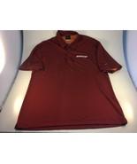 Dayton Flyers Basketball Nike Dri - Fit Polo Shirt Size Large L Red Shor... - $24.74