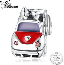 JewelryPalace Love Car Red Enamel 925 Sterling Silver Beads Charms Brace... - $68.42