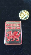 gold welsh br grace of god Lapel Pin Badge / tie pin. in gift box enamel finish