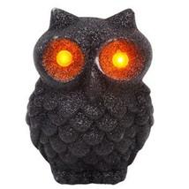 Glitter LED Flashing Light SPOOKY OWL Halloween Decoration (Pack of 2) ~... - $12.86