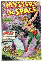 Mystery In Space #89 1964- Hawkman- Adam Strange-- Motorcycle cover VG- - $45.40