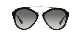 Prada Women's Cinema SPR12QA SPR/12QA 1AB-0A7 Black Fashion Sunglasses 54mm - $405.90