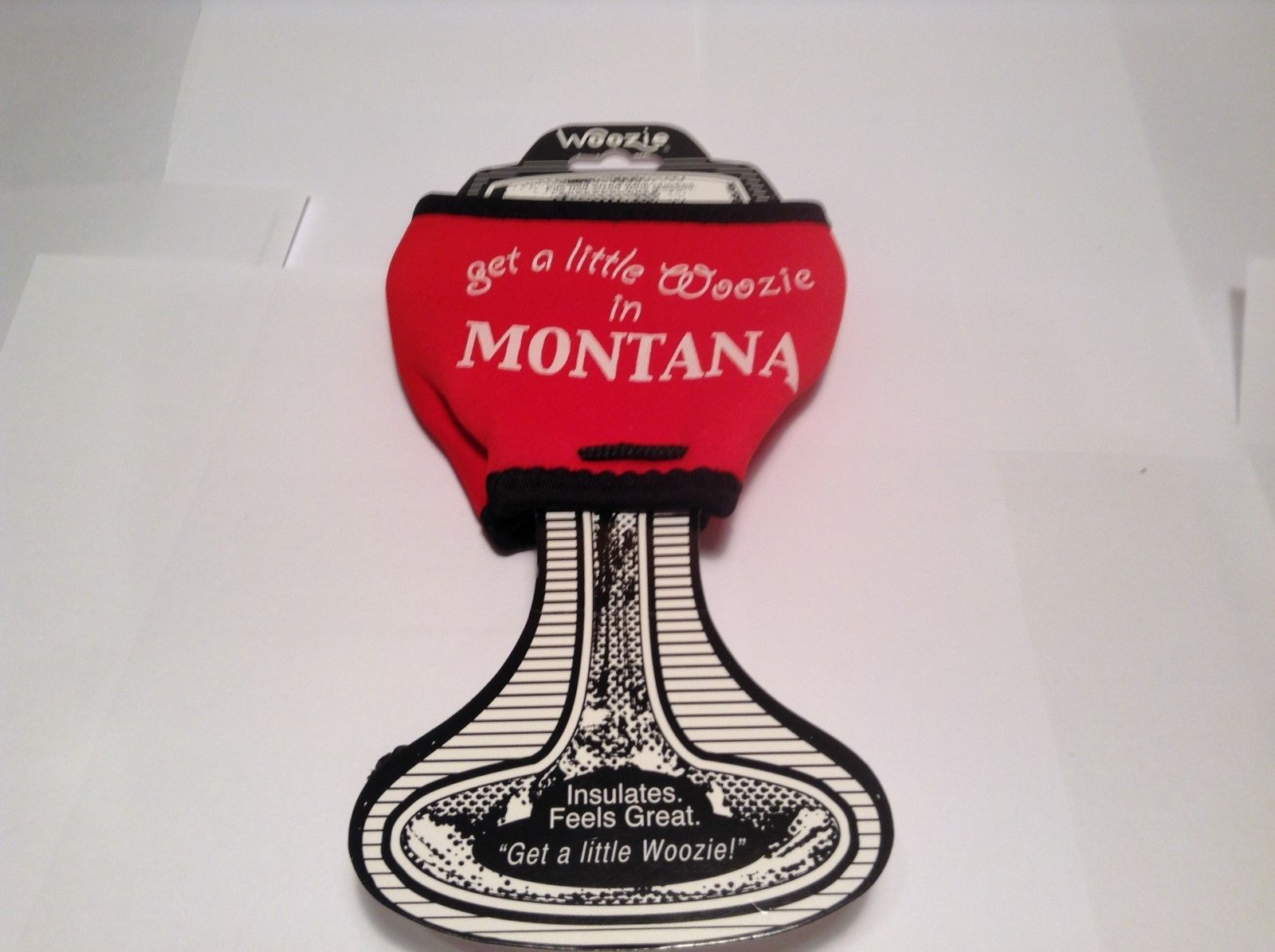 NEW Red Get A Little Woozie in Montana Med Sz Woozie