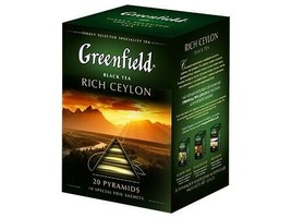 Greenfield Black Tea Rich Ceylon Russian Style 20 pyramids US Seller 1.4... - $9.89