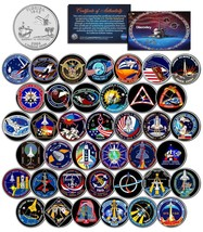 SPACE SHUTTLE DISCOVERY MISSIONS Colorized Florida Quarters US 39-Coin S... - $98.95