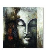 Seekland Art Hand Painted Large Buddha Face Canvas Wall Art Handmade Abs... - $181.12