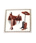 VTG Coasters Western Cowboy Boots Horses Drink Rustic 20 Paper Decor Ran... - $18.80