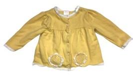 Vintage Gymboree Baby Girls Yellow Cardigan Sweater 12-18 Months Flowers - $29.69