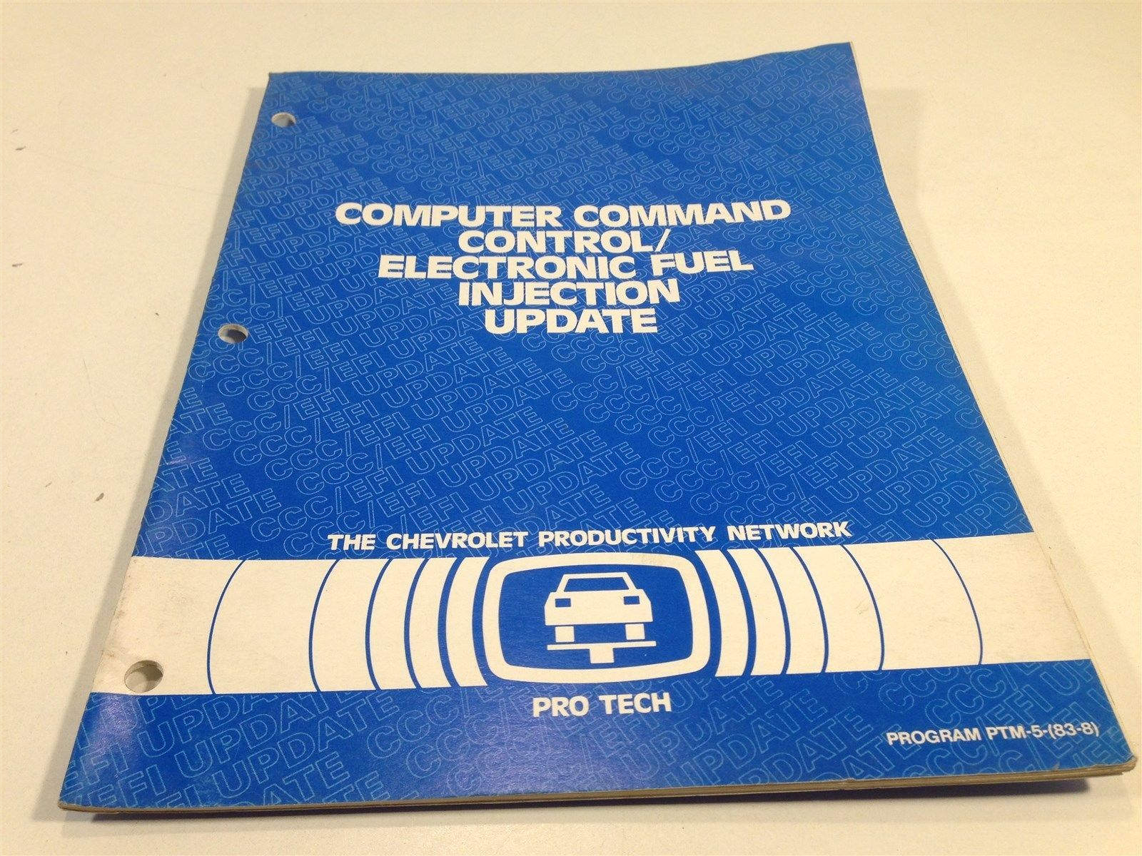 1983 Chevrolet Pro Tech Computer Command Control Service Manual Blue Book Update
