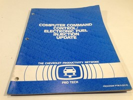 1983 Chevrolet Pro Tech Computer Command Control Service Manual Blue Boo... - $9.99