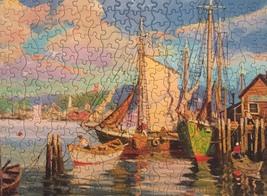"Vintage 50s Tuco Interlocking Picture Puzzle- #5982 ""Along Cape Cod""  image 2"
